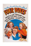 Four Wives  from Left: May Robson  Rosemary Lane  Lola Lane  Priscilla Lane  Gale Page  1939