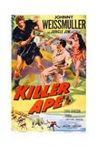 Killer Ape  Center: Johnny Weissmuller  Right: Carol Thurston  1953