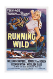 Running Wild  Center: Mamie Van Doren  Bottom Right: Keenan Wynn  1955