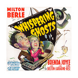 The Whispering Ghosts  from Top: John Carradine  Milton Berle  Brenda Joyce  1942