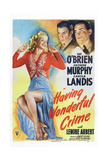 Having Wonderful Crime  from Left: Carole Landis  George Murphy  Pat O'Brien  1945
