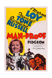 Man-Proof  from Left: Myrna Loy  Walter Pidgeon  Rosalind Russell  1938