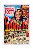 Santa Fe  Top from Left: Janis Carter  Randolph Scott  1951