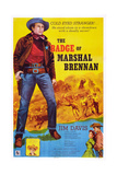 The Badge of Marshal Brennan  Jim Davis  1957