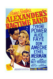 Alexander's Ragtime Band  from Left: Tyrone Power  Alice Faye  Don Ameche  1938