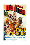 Stage to Chino  from Left: Virginia Vale  George O'Brien  1940