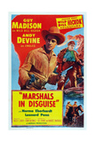 Marshals in Disguise  from Left: Guy Madison  Andy Devine  1954