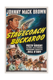Stagecoach Buckaroo  from Top: Johnny Mack Brown  Fuzzy Knight  Nell O'Day  1942