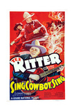 Sing  Cowboy Sing  Al St John  Tex Ritter  1937