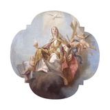 Allegory of Religion  Veiled Woman  Dove of the Holy Spirit  and Cross