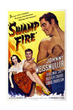 Swamp Fire  from Left: Carol Thurston  Buster Crabbe  Johnny Weissmuller  1946