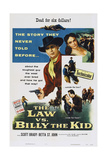 The Law Vs Billy the Kid  Top from Left: Scott Brady  Betta St John  1954