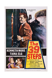 The 39 Steps  Kenneth More (Top)  Bottom from Left: Taina Elg  Kenneth More  1959
