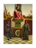 Madonna and Child  St Francis and St Nicasio Castelfranco Altarpiece