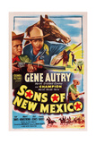 Sons of New Mexico  Top Center and Bottom Right: Gene Autry  1949
