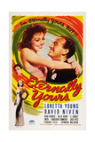 Eternally Yours  from Bottom Left: Virginia Field  Zasu Pitts  Loretta Young  David Niven  1939