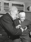 Simon Trampatter  a 83-Year-Old Dutch Jew Cuts the Star Off the Coat of His Friend  Joseph Keller