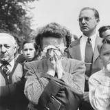 Woman Weeps into Her Handkerchief at the Funeral of President Franklin Roosevelt  Washington  DC