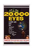 20 000 Eyes  Bottom Left: Gene Barry  Merry Anders; Bottom Right: James Brown  1961