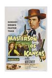 Masterson of Kansas  Top: George Montgomery  Bottom Left: Nancy Gates  1954