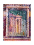 Wall Fresco with Architecture  C 40-30 BC