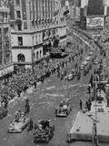 Press Cars Lead the Broadway Tickertape Parade for Gen Douglas Macarthur