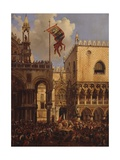 Ceremony at Porta Della Carta  Venice