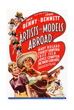 Artists and Models Abroad  from Left: Joan Bennett  Jack Benny  1938