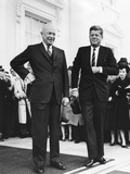 President Dwight Eisenhower and President-Elect John Kennedy before their Transition Meeting