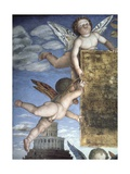 Putti with Butterfly Wings (Detail)