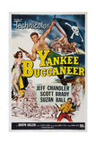 Yankee Buccaneer  Left: Suzan Ball; Center: Jeff Chandler; Bottom Right: Scott Brady  1952