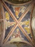 Vaulted Ceiling with Four Evangelists and their Symbols