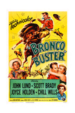 Bronco Buster Art from Left  Scott Brady  John Lund  Joyce Holden  Chill Wills  1952