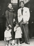 Bao Dai  King of Annam (Now Central Vietnam) with His Family in Paris June 6  1939
