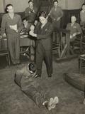 Reenactment of the Beheading of Lt Darwin Emry During War Crimes Trial in Yokohama  Japan