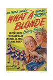 What a Blonde  Kissing from Left: Leon Errol  Veda Ann Borg  1945