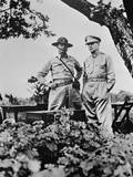 General Douglas Macarthur (Right) Shown Here with Major General Jonathan Wainwright