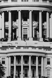 White House South Portico before and after the Addition of the 'Truman Balcony' in 1948