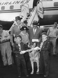 Rintintin Arrives in Washington  DC with a Group of Boy Scouts on April 9  1959