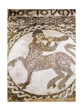Mosaic Floor with Centaur Playing a Horn  12th C
