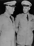 Generals Dwight Eisenhower and Omar Bradley  July 19  1948