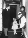 Kennedy Family Returns from Palm Beach  Florida on Feb 4  1961