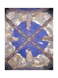 Ceiling Fresco in Torrechiara Castle Depicting Manor Locations