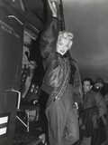 Marilyn Monroe Arriving by Helicopter at a US Military Base in Korea