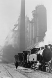 Locomotive Hauling Pig Iron at the Blast-Furnace of the Stalin Metallurgical Works