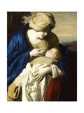 Virgin Mary with Nursing Baby Jesus