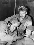 Bearded Gis Relax in a Medical Clearing Station after their Release as Pows by Chinese Communists