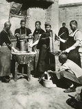 Chinese Men Prepare Noodles in Manchuria Ca 1930s