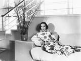 Dolores Del Rio  at Home (Designed by Her Husband  Cedric Gibbons)  Ca 1935