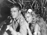 Jungle Goddess  from Left: George Reeves  Wanda Mckay  1948